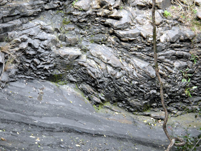 The Slippery Dip - Ancient lava flows have made an awesome slippery dip